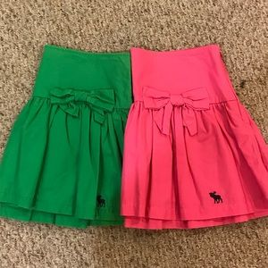 Abercrombie and Fitch ruffle skirts